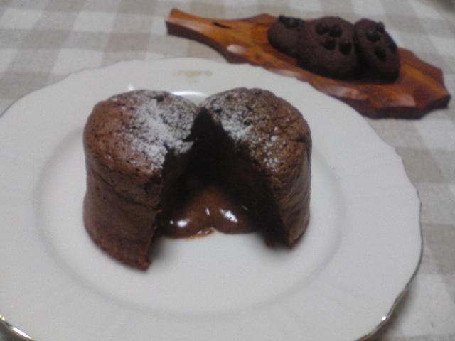 2月お菓子教室 『フォンダン・ショコラ』step2