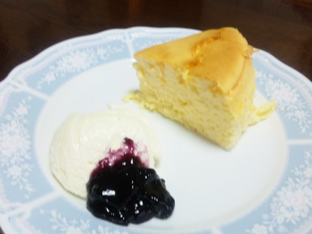 あったかいチーズケーキ